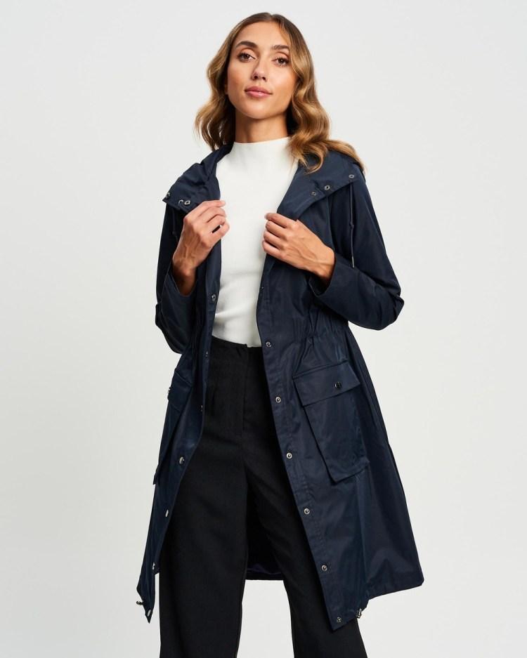 Willa Belmont Snap Front Parker Coats & Jackets Dark Navy
