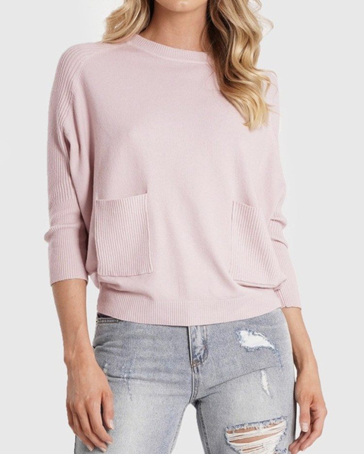 Amelius Sawyer Knit Jumpers & Cardigans Pink