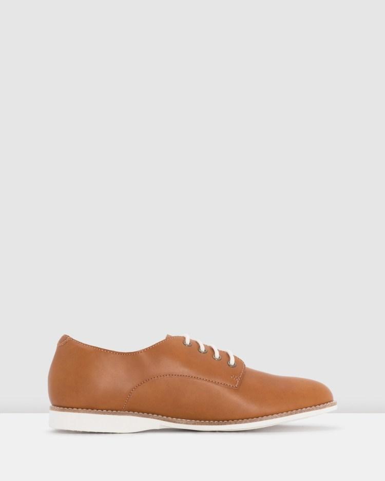 Rollie Derby Vegan Shoes Flats Brown