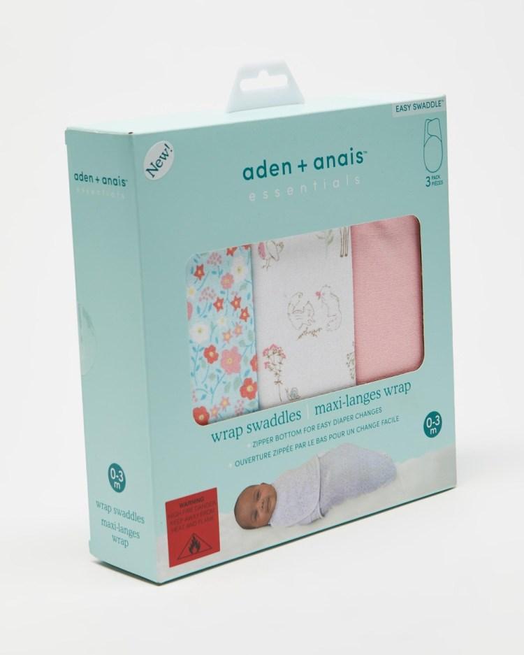 Aden & Anais 3 Pack Wrap Swaddles Sleep Fairy Tale Flowers 3-Pack
