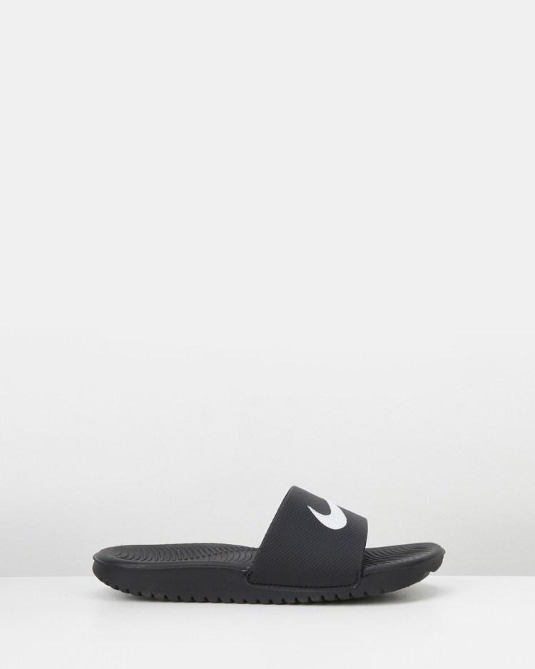 Nike Kawa Slides Sandals Black/White