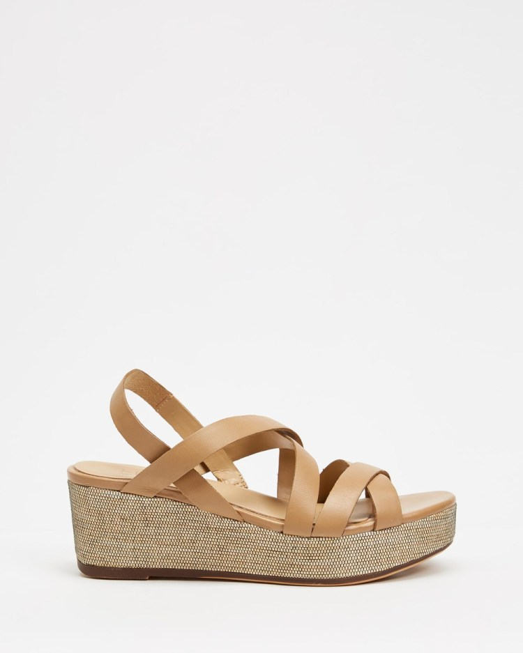 Naturalizer Unique Wedge Wedges Bamboo Tan