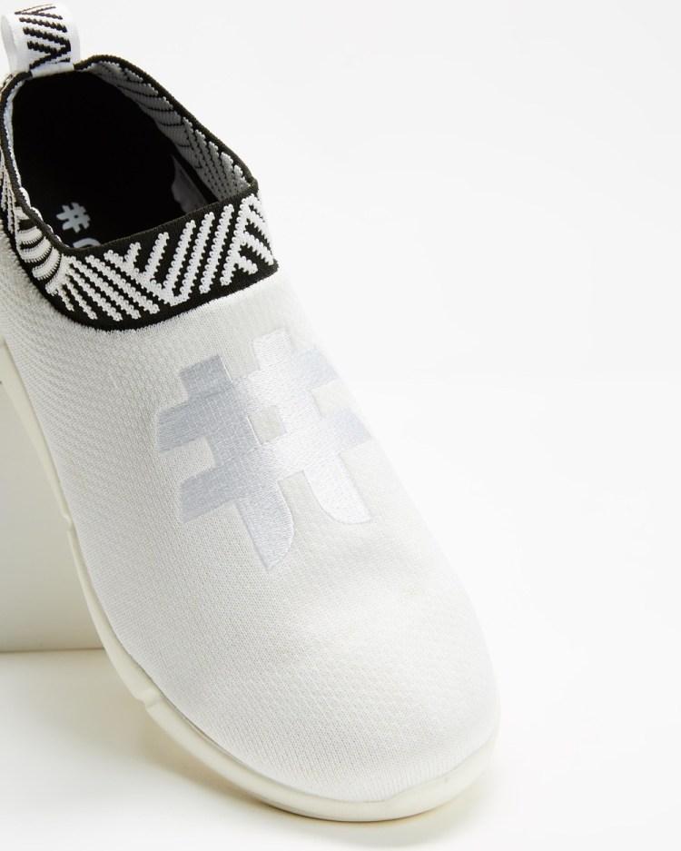 Rens Original Waterproof Coffee Sneakers Slip-On Classic White