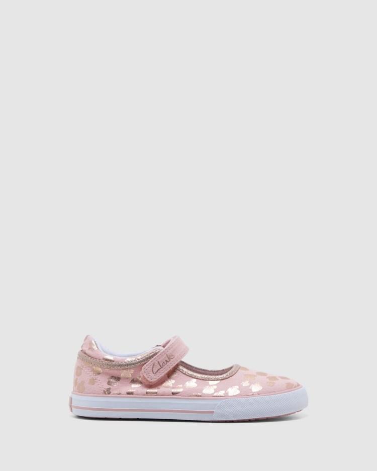 Clarks Lizzie Sneakers Musk/Rose Gold Butterfly