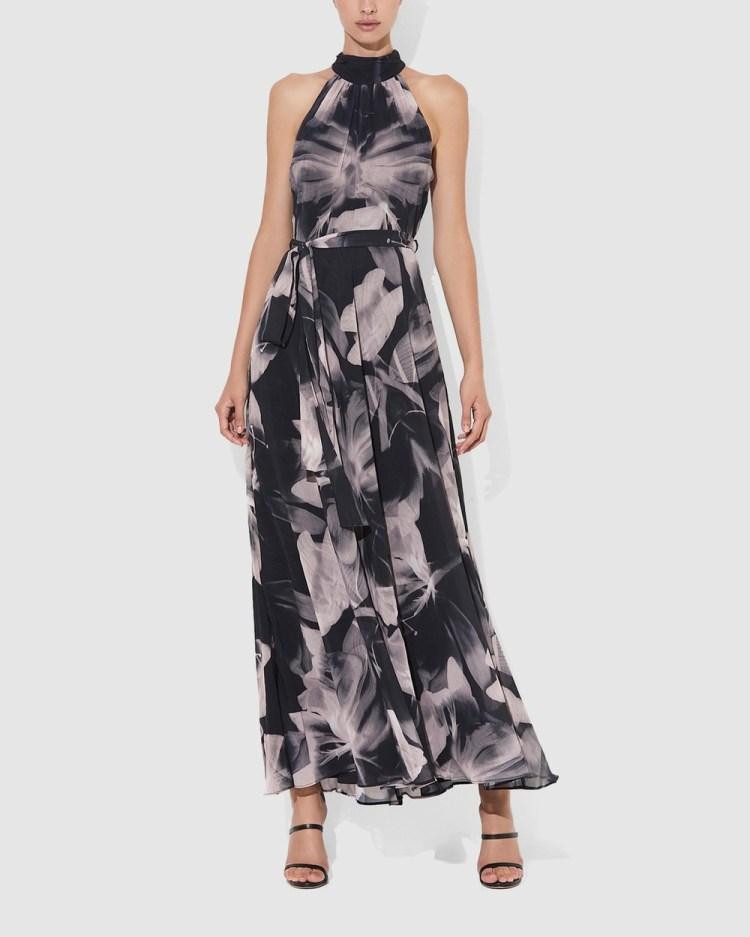 Montique Fifi Halter Gown Dresses Black Pink