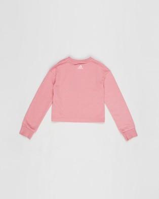 adidas Performance Essentials Logo Sweatshirt Kids Teens Sweats Hazy Rose & Light Pink Kids-Teens