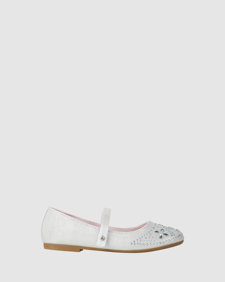 Candy Coco Bloom Flats White Pearl