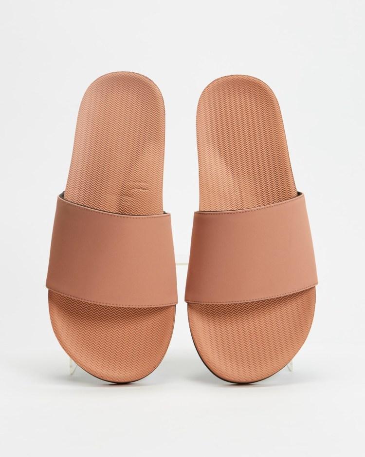 Indosole ESSENTLS Slides Men's Casual Shoes Rust