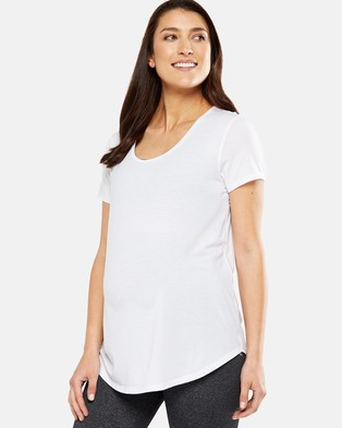 Cotton On Body Active Maternity Gym Tee Short Sleeve T-Shirts White