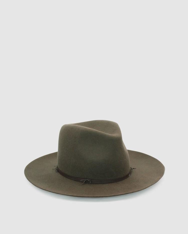 Ace Of Something Bonanza Fedora Hats Khaki