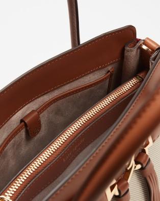 Kate Spade - Toujours Canvas Medium Satchel - Handbags (Black & Crisp) Toujours Canvas Medium Satchel