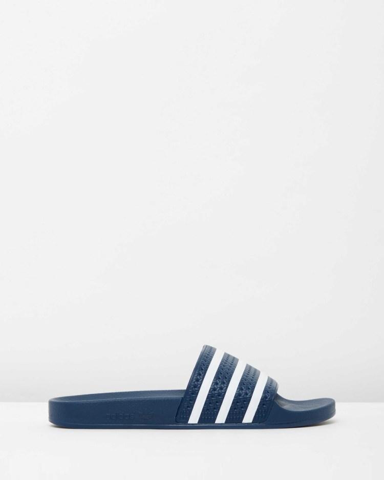 adidas Originals Adilette Unisex Slides Adiblue & White