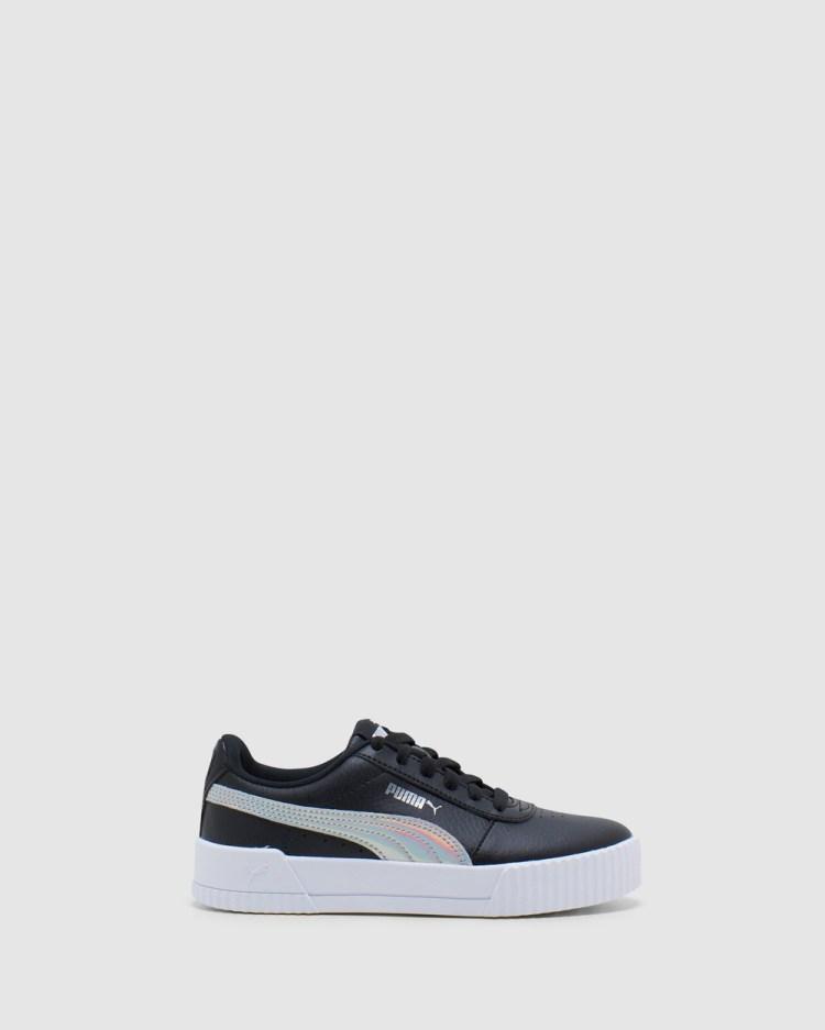 Puma Carina Rainbow Grade School Sneakers Black/Silver