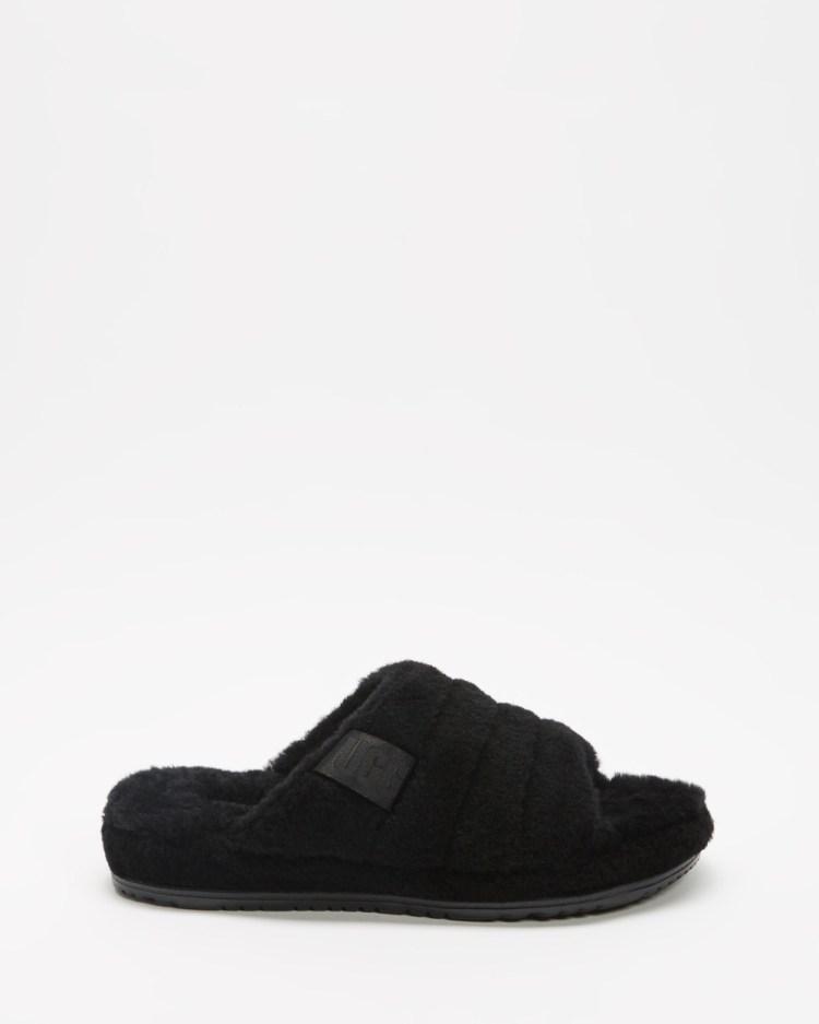 UGG Fluff You Slides Men's Slippers & Accessories Black