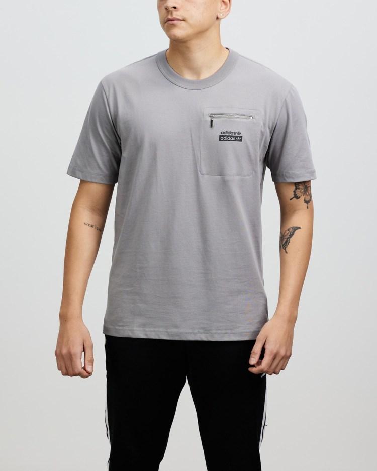 adidas Originals R.Y.V. Loose Fit Tee T-Shirts & Singlets Solid Grey