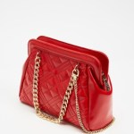 LOVE MOSCHINO - Quilted Cross Body Bag - Handbags (Red) Quilted Cross-Body Bag