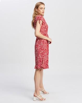 KAJA Clothing - Bobbi Dress - Dresses (Red Print) Bobbi Dress