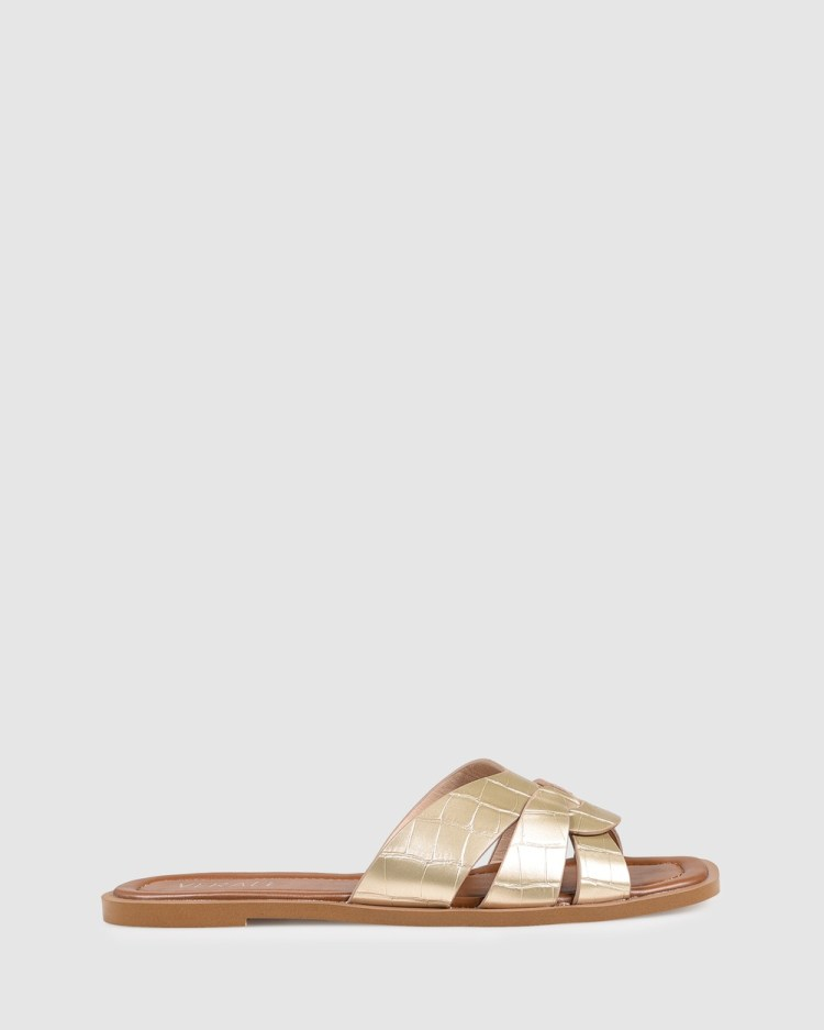 Verali Glam Casual Shoes Gold