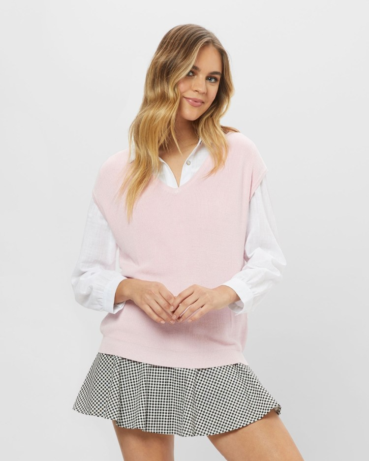 ids Richie Sleeveless Knit Jumpers & Cardigans Pink