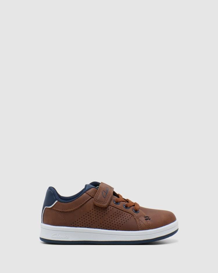 Clarks Danner Junior Sneakers Tan/Navy