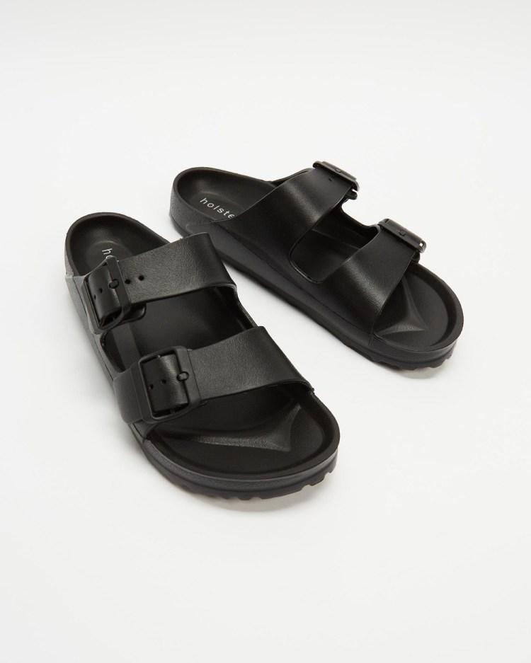 Holster Sundreamer Unisex Slides Flats Black