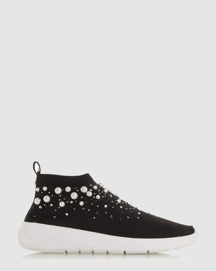 Dune London Ellex High Top Sneakers Black