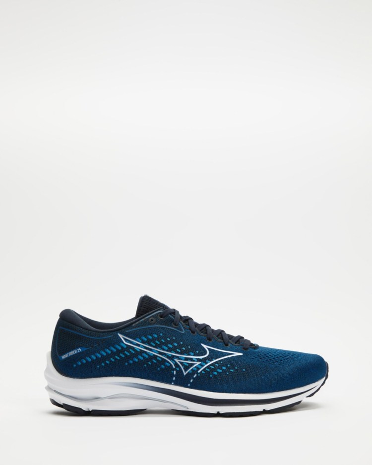 Mizuno Wave Rider 25 Mens Performance Shoes Imperial Blue & Sky Captain