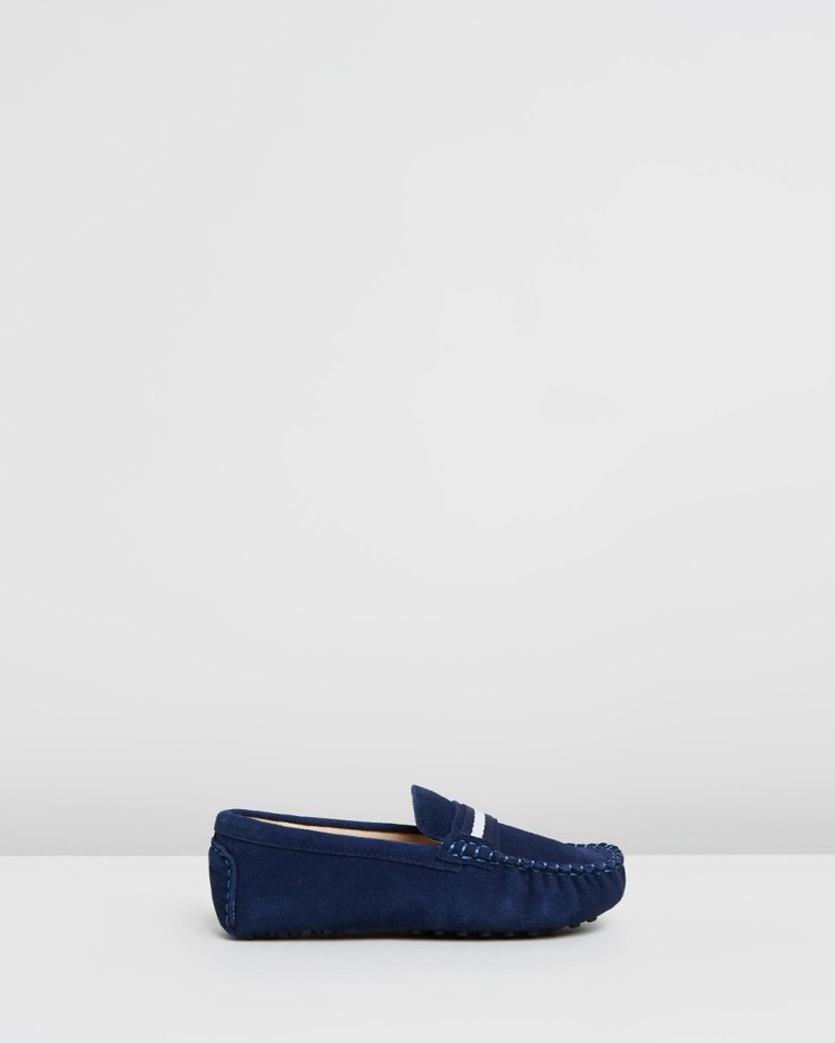 Oscars For Kids Milan Loafers Dress Shoes Navy Suede