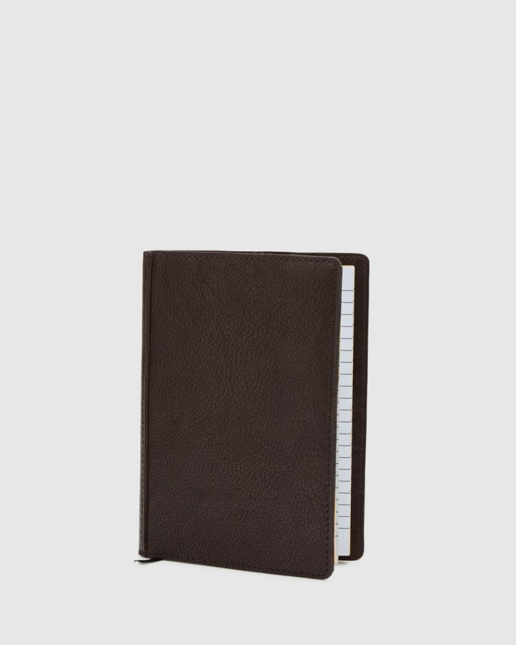 Oxford Miller Leather Notebook All Stationery Brown