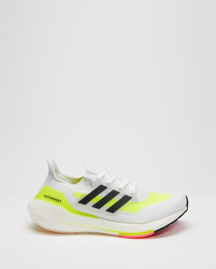 adidas Performance Ultraboost 21 Women's Training Cloud White, Core Black & Solar Yellow