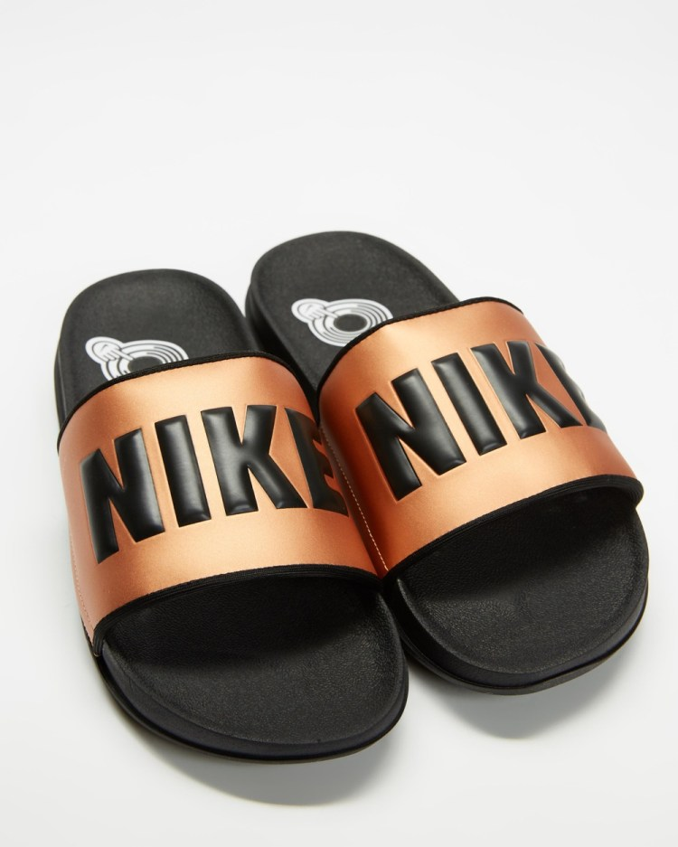 Nike Offcourt Slides Women's Metallic Copper & Black