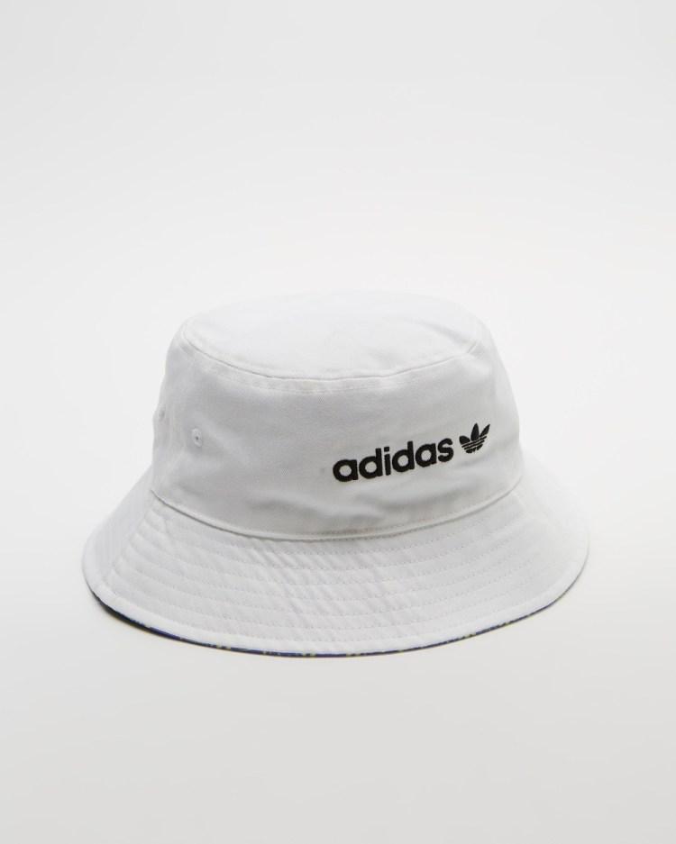 adidas Originals Reversible Bucket Hat Hats White & Lilac
