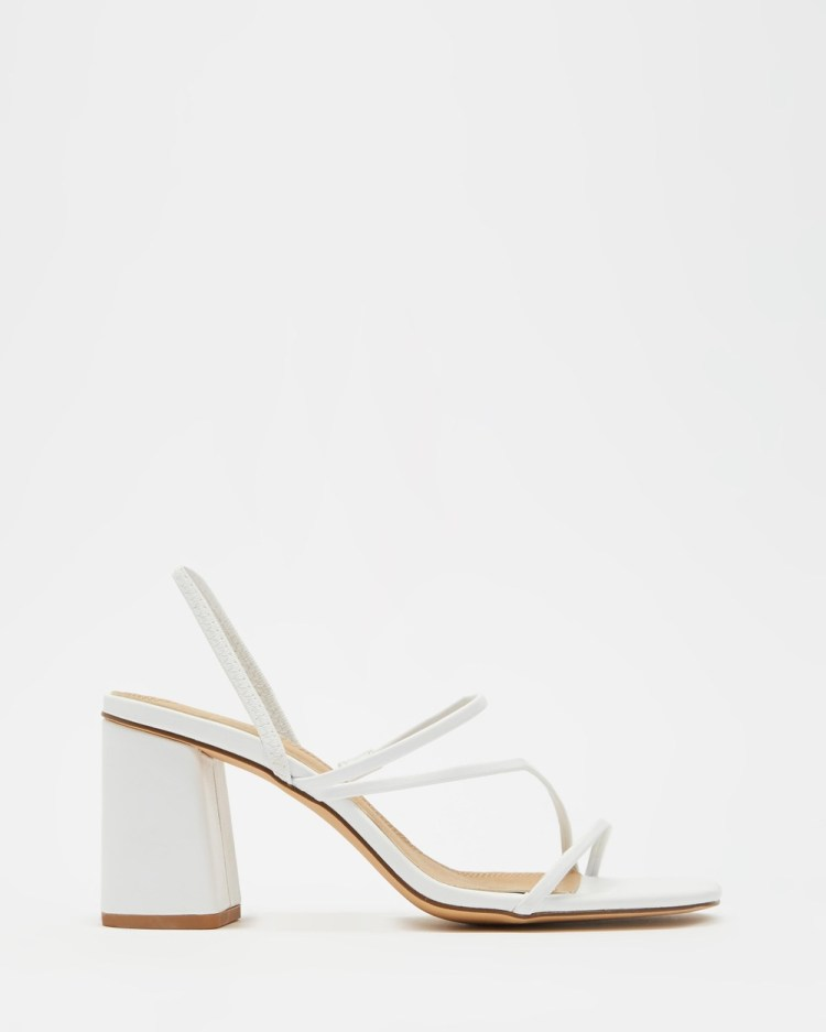 SPURR Betty Heels Mid-low heels White Smooth