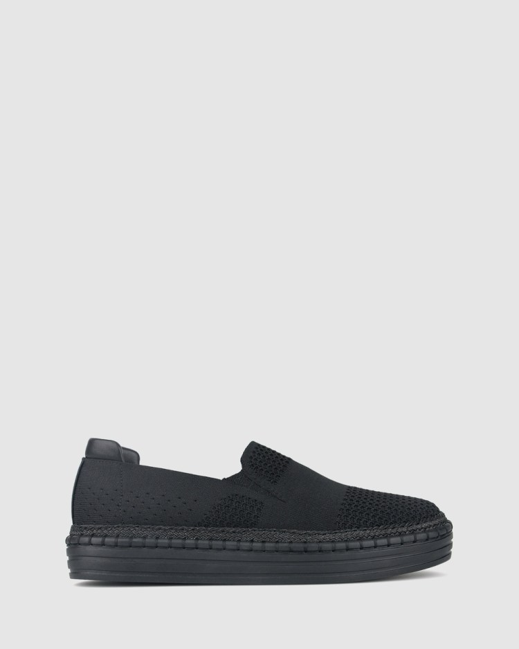 Betts Tilly Rope Trim Sneakers Flats Black/Black