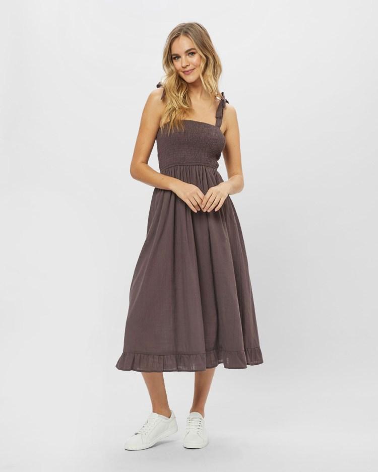 ids Leila Dress Dresses Brown