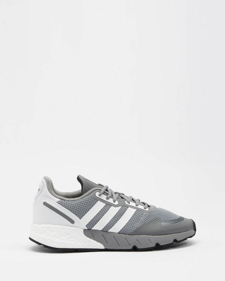 adidas Originals ZX 1K Boost Sneakers Men's Lifestyle Grey Three, White & Core Black