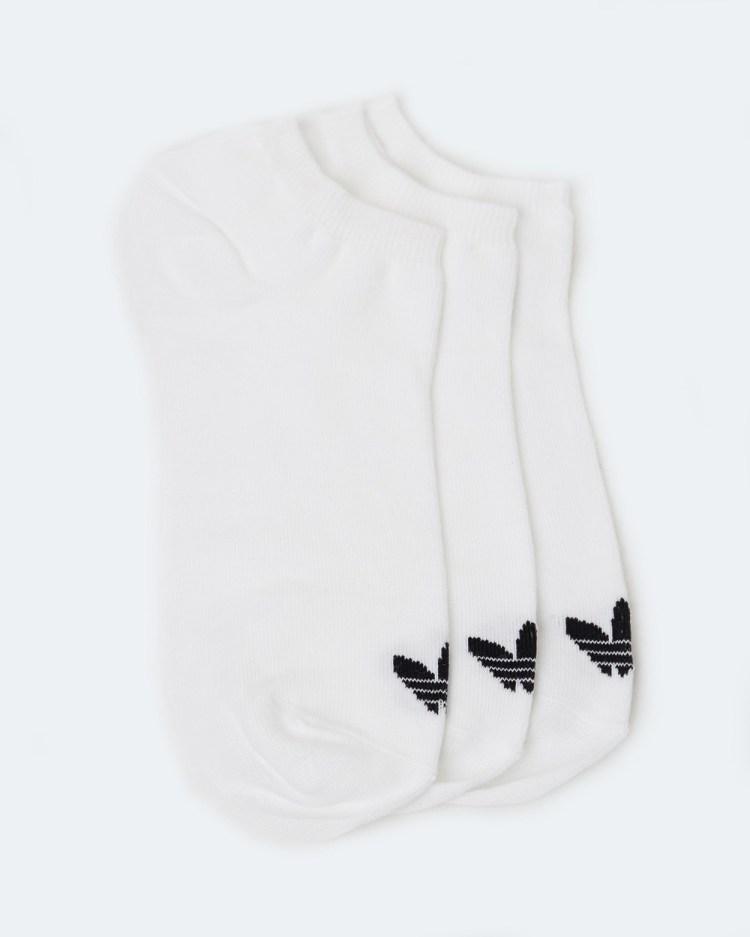 adidas Originals Trefoil Liner Socks 3 Pack Underwear & White Black