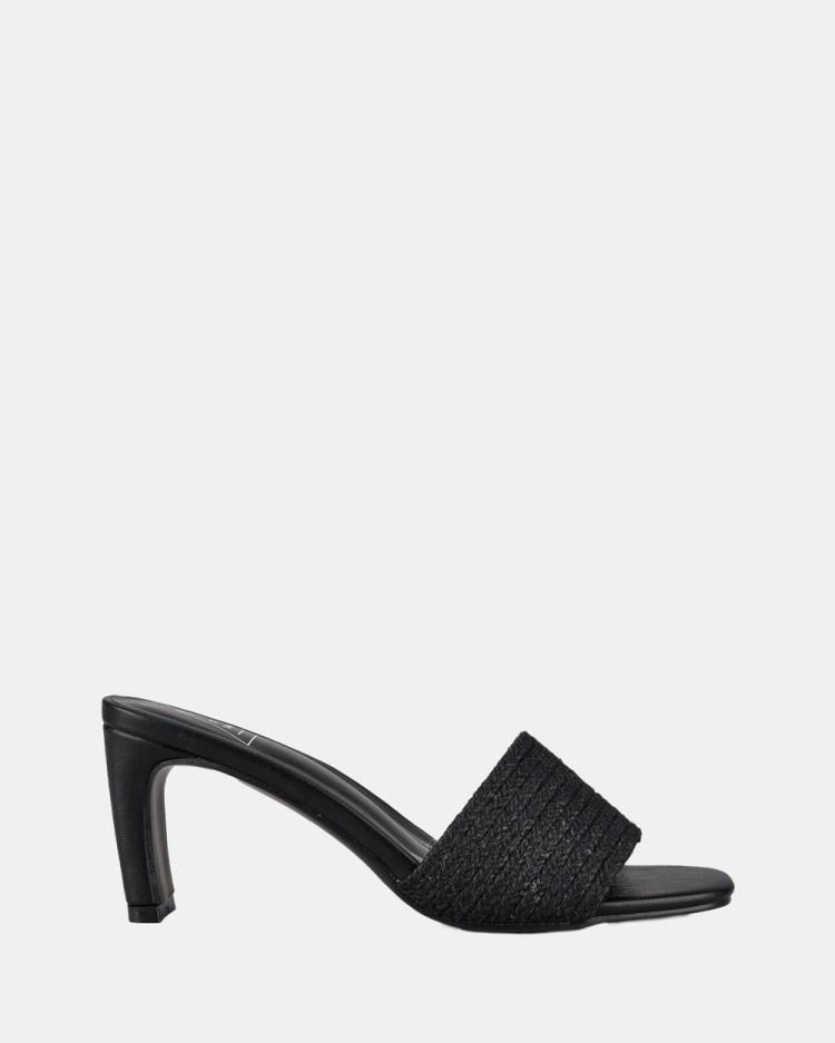 St Sana Daphne Mules Sandals Black
