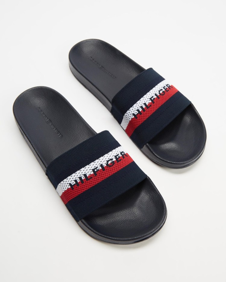 Tommy Hilfiger Knitted Pool Slides Casual Shoes Navy
