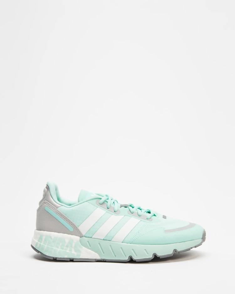 adidas Originals ZX 1K Boost Women's Performance Shoes Clear Mint, Footwear White & Grey Two