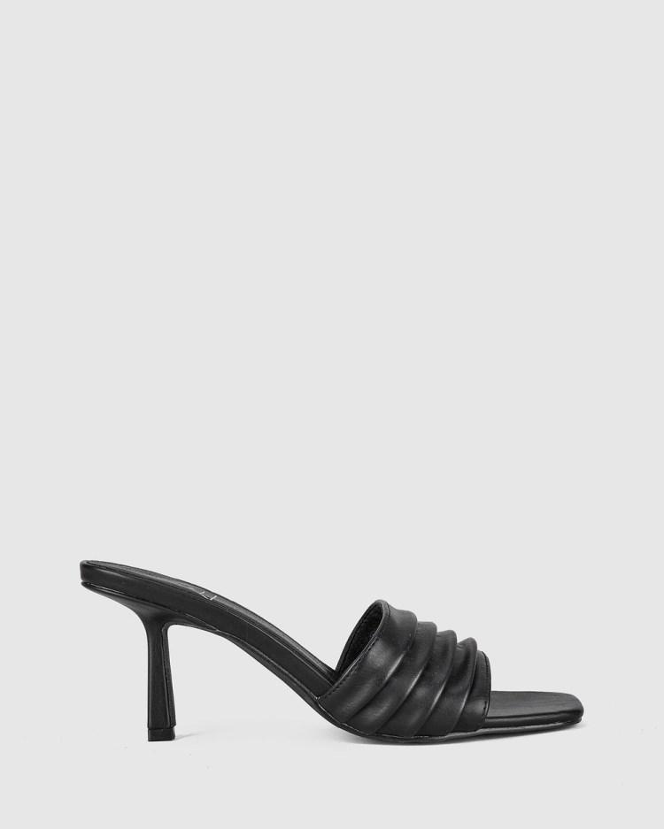 St Sana Emberly Mules Heels Black