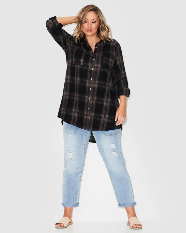 17 Sundays Check Shirt Shirts & Polos Black