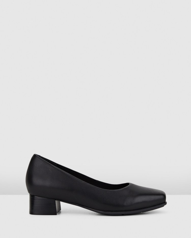 Hush Puppies The Low Square All Pumps Black