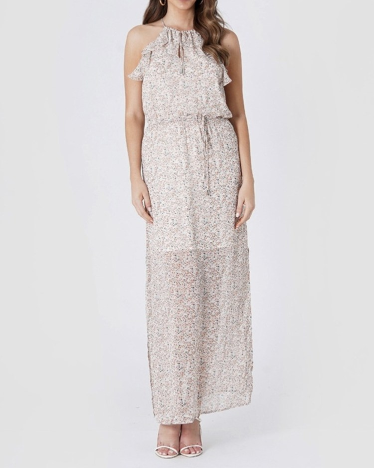 Amelius Remy Dress Printed Dresses White