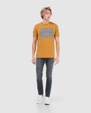 Superdry Modern Workwear Tee T-Shirts Buckthorn Brown