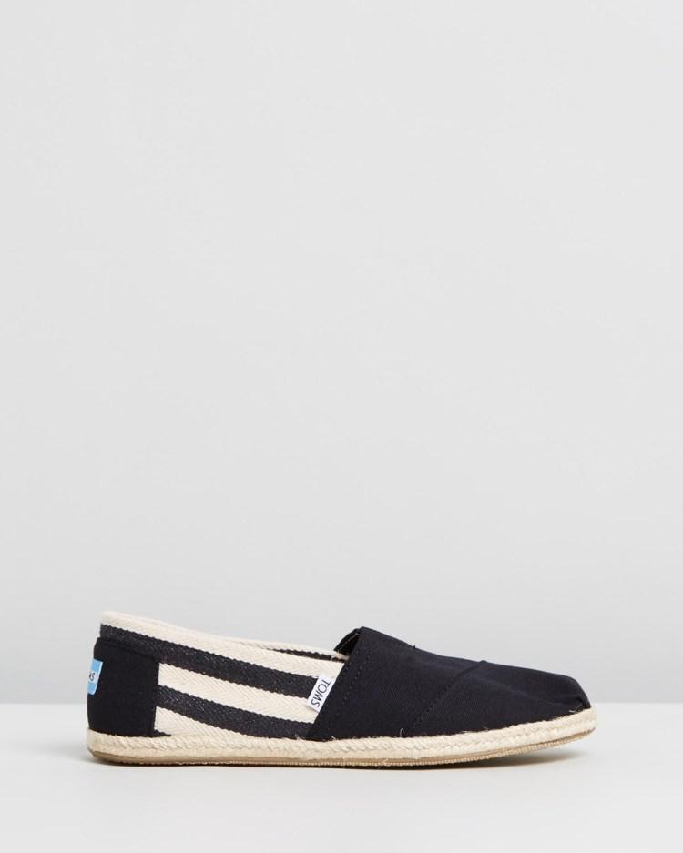 TOMS University Classics Men's Casual Shoes Black Stripe