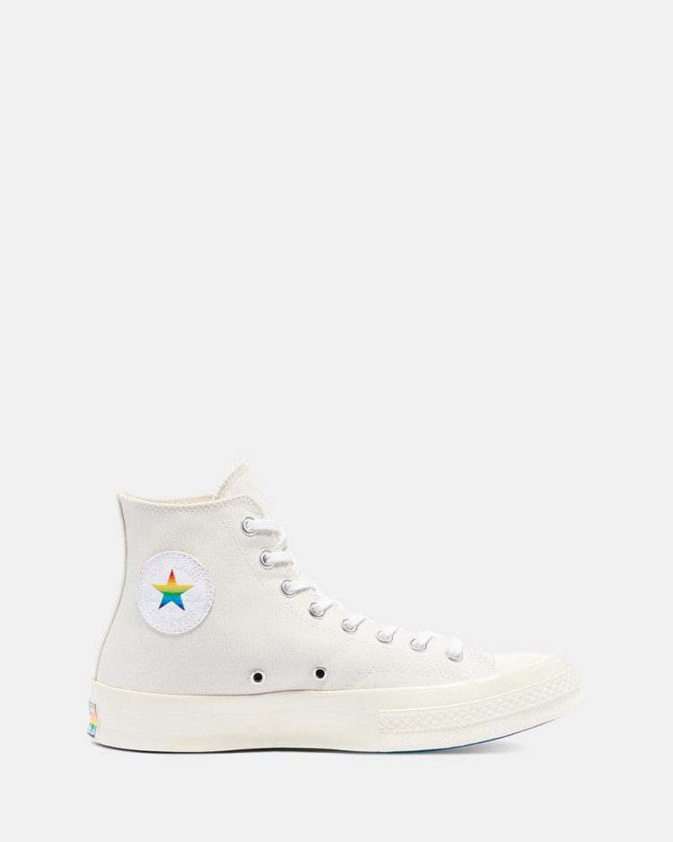Converse Chuck Taylor All Star 70 Pride High Top Unisex Sneakers Egret, Multi & White