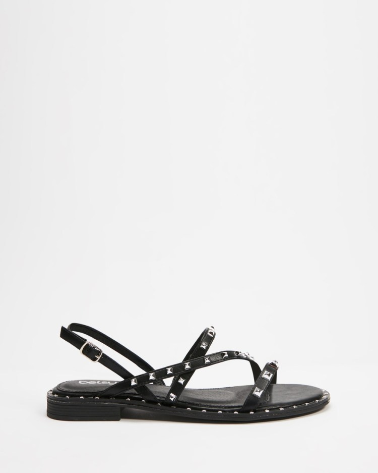 Betsy Studded Strappy Sandals Black