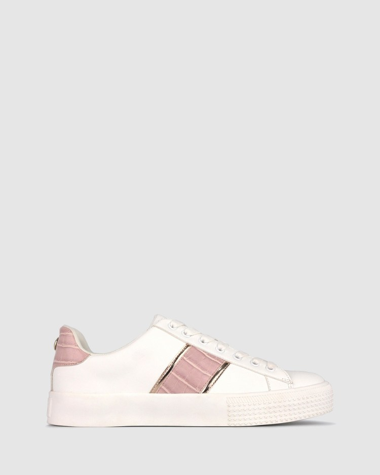 Betts Penny Lifestyle Sneakers White/Pink Croc