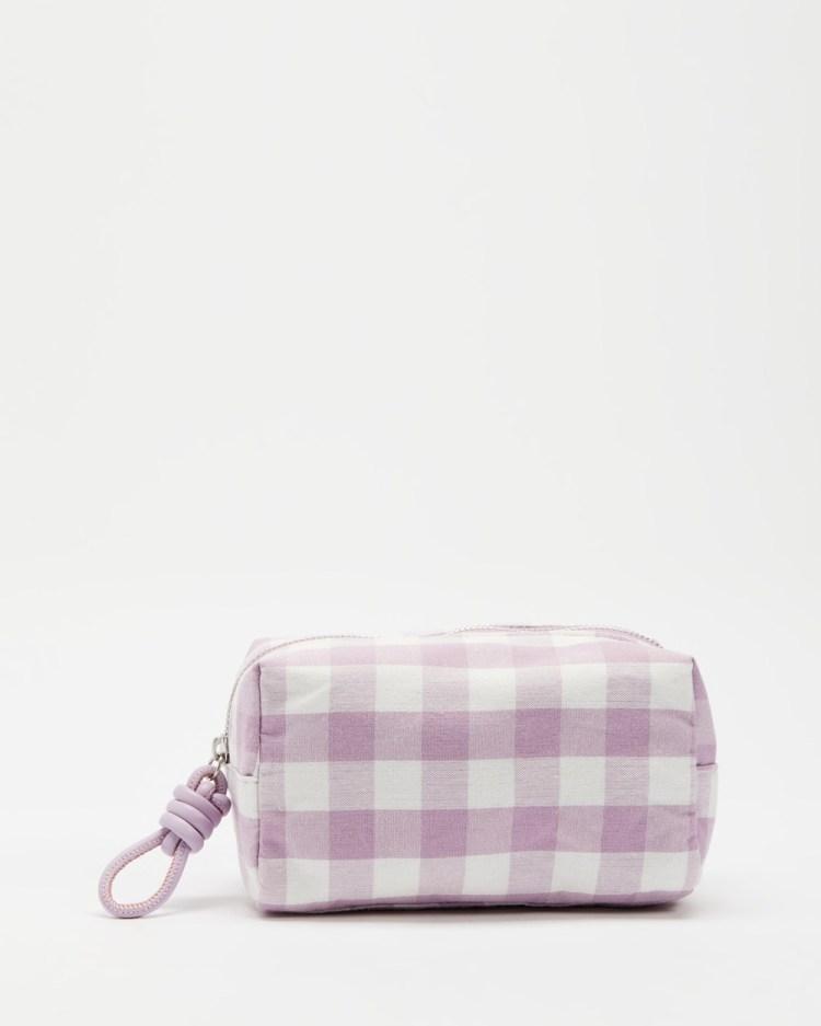 M.N.G Taiwan Cosmetic Bag Bags & Tools Light Pastel Purple